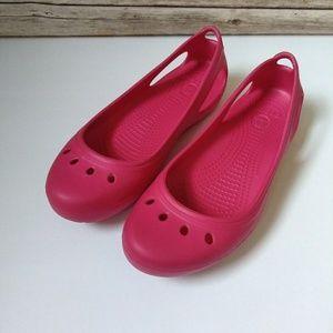 CROCS Flats Shoes Pink Sz 8